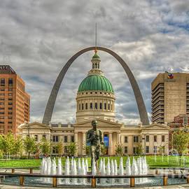 Majestic Sky St Louis Gateway Arch Old St Louis County Court House St Louis Missouri Art by Reid Callaway