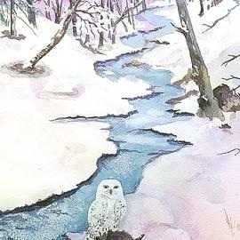 Majestic Winter - Snowy Owl by Ellen Levinson