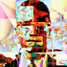 Wingsdomain Art and Photography - Malcolm X in Abstract Cubism 20170329 square
