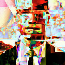 Wingsdomain Art and Photography - Malcolm X in Abstract Cubism 20170329