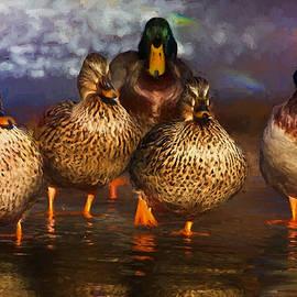 Ericamaxine Price - Mallard Family - Painting