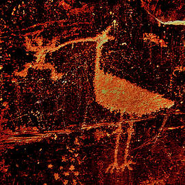 Mark Victors - Man Bird Petroglyph