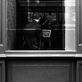 S R Shilling - Man in a Cafe in Dublin