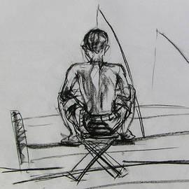 Man In The Fishing Game by Sukalya Chearanantana