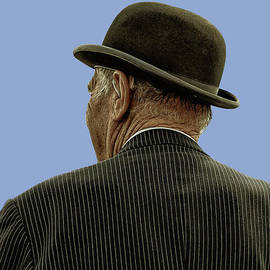 Man With A Bowler Hat by Toula Mavridou-Messer