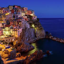Joan Carroll - Manarola Cinque Terre Italy Nightfall