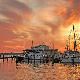 Manatee Riverfront Sunset by HH Photography of Florida