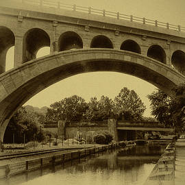Manayunk Canal in Sepia by Bill Cannon