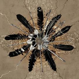 mandala arrow feathers - Bekim Art