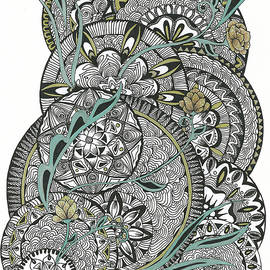 Mandalas With Gold Flowers by Alexandra Louie