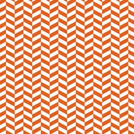 Ross - Mango Orange Herringbone Design