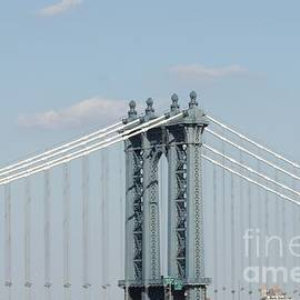 Manhattan Bridge From The Brooklyn Bridge by John Telfer