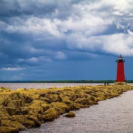 Chuck De La Rosa - Manistique East Breakwater Lighthouse
