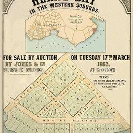 Andrew Fare - Map Of Auckland 1863a
