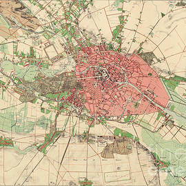 Map of Berlin, 1857 - German School