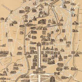 Map of Berlin, 1860 - German School