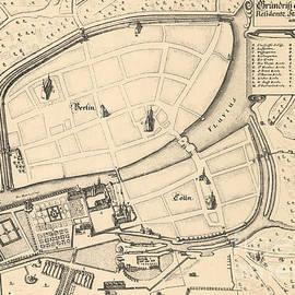 Map of Berlin and Coelln, 1652 - Johann Gregor Memhardt
