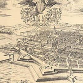 Map of Berlin and Coelln, 1688 - German School