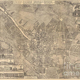 Map of Berlin showing buildings of interest, 1773 - Johann David Schleuen