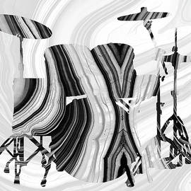 Marbled Music Art - Drums - Sharon Cummings by Sharon Cummings