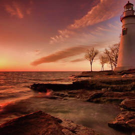 Marblehead Lighthouse Sunrise by Dan Sproul