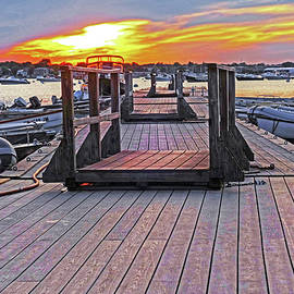 Toby McGuire - Marblehead MA Village Street Dock at Sunset Low
