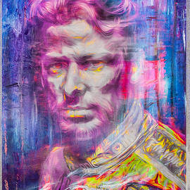 Marco Andretti Digitally Painted Portrait by David Haskett II