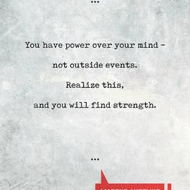 Studio Grafiikka - Marcus Aurelius Quotes 1 - Literary Quotes - Book Lover Gifts - Typewriter Quotes