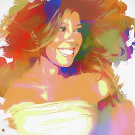 Dan Sproul - Mariah Carey Watercolor
