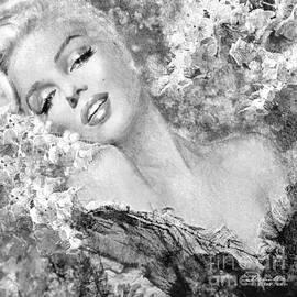 Marilyn Cherry Blossom bw by Theo Danella