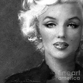 Marilyn Soft bw by Angie Braun