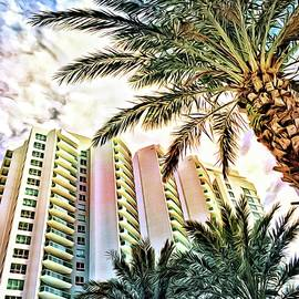 Marina Grande Through Majestic Palms by Alice Gipson