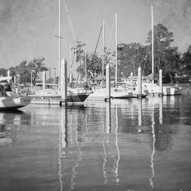 Luther Fine Art - Marina Reflections BW