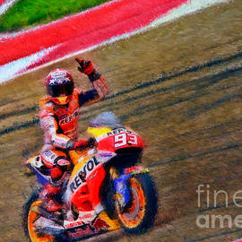 Blake Richards - Marc Marquez Waves To Austin