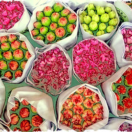Market Flowers - Hong Kong by Marla Craven