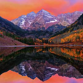Maroon Bells Autumn Sunrise by Greg Norrell