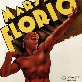 Marsala Florio - Sicily, Italy - Vintage Poster - Studio Grafiikka