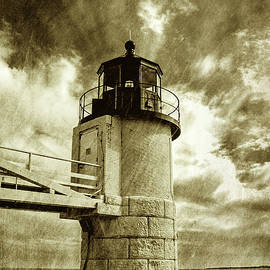 David Smith - Marshall Point Lighthouse sepia distessed antique look