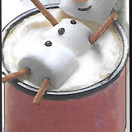 Marshmallow Relaxing In Cup Of Hot Cocoa by Charles Robinson