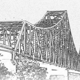David Coblitz - Martin Luther King Bridge line art BW
