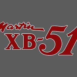 Martin Xb-51 Nose Art T-shirt by John Matthews