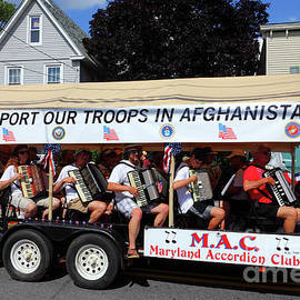Maryland Accordion Club At 4th July Parades Catonsville by James Brunker
