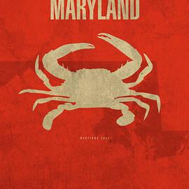 Design Turnpike - Maryland State Facts Minimalist Movie Poster Art