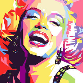 Marylin Monroe WPAP Pop Art by Ahmad Nusyirwan