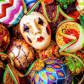 Mask And Christmas Ornaments - Garry Gay