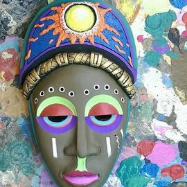 Mask on canvas  by Jims Wiss
