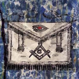 Masonic Apron and Symbols by Raphael Terra and Mary Bassett - Raphael Terra