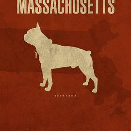 Design Turnpike - Massachusetts State Facts Minimalist Movie Poster Art