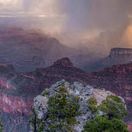 Colin D Young - Mather Point Sunrise Snow Squall Panorama