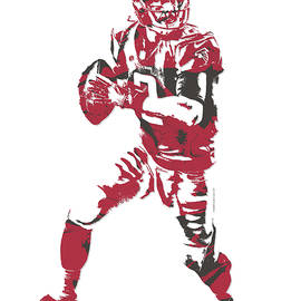 MATT RYAN ATLANTA FALCONS PIXEL ART 5 - Joe Hamilton
